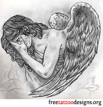 Tatto Designer on Angel Tattoos   Angel Wings  Guardian Angel And St Michael Designs