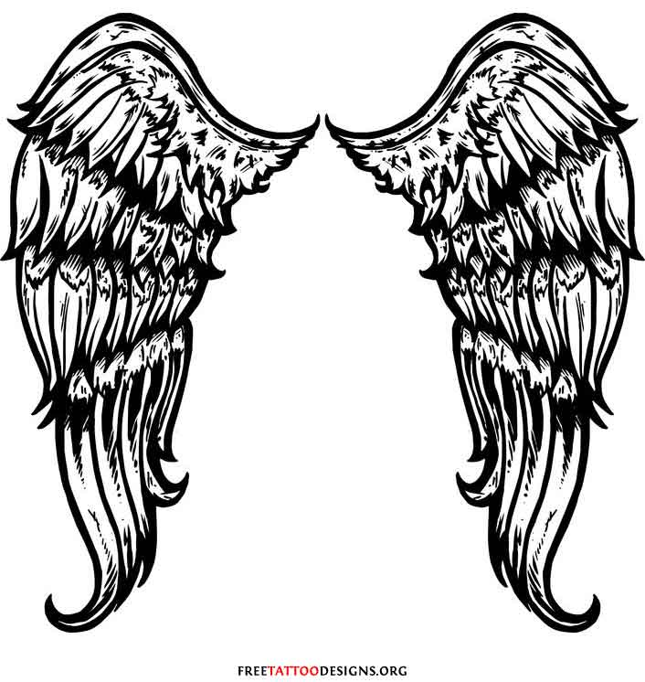 Gothic Angel Wings Tattoo