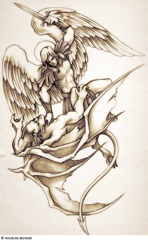 fallen angel tattoos. The Fallen Angel Tattoo