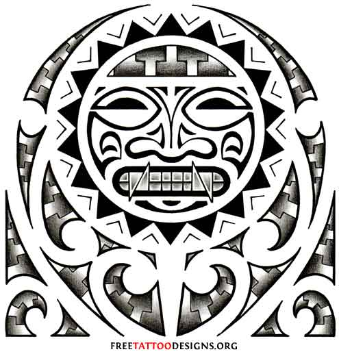 Aztec And Mexican Tattoos Hispanic Tribal Chicano Gang And Prison Beauteous Aztec Tribal Pattern
