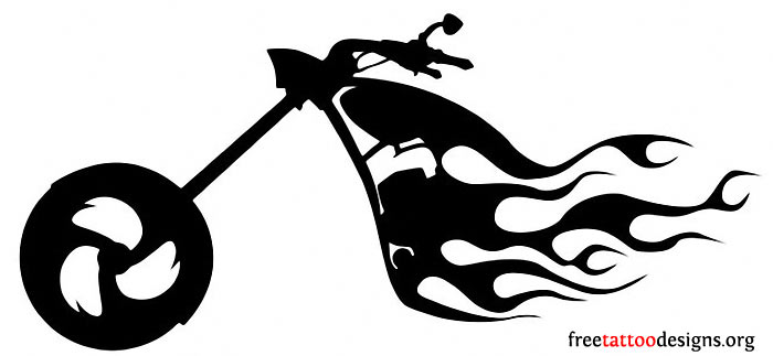 Biker tattoo design