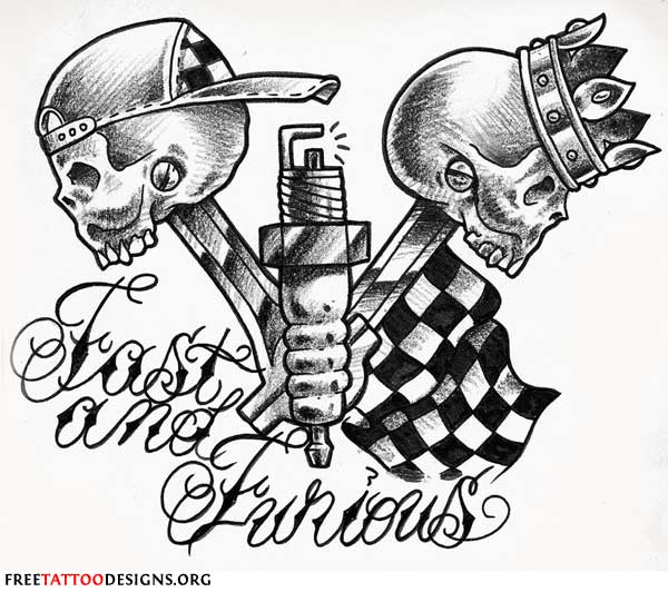 Biker Tattoo: Fast and Furious