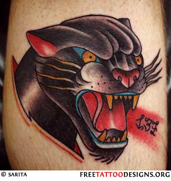 Black panther tattoo