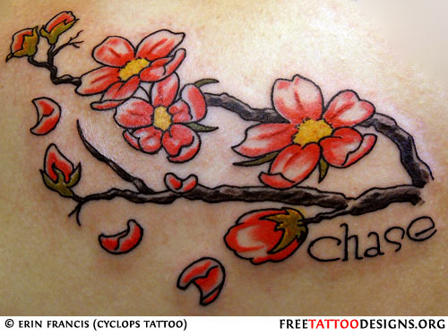 Cherry blossom tattoo design