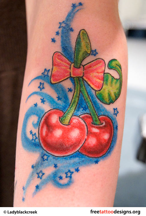 55 cherry tattoo designs their hidden meaning cherry tattoo on arm urmus Gallery