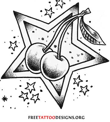 cherry tattoo. Cherry Tattoo Design