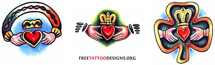 77 Irish Tattoos Shamrock Clover Cross Claddagh Tattoo Designs