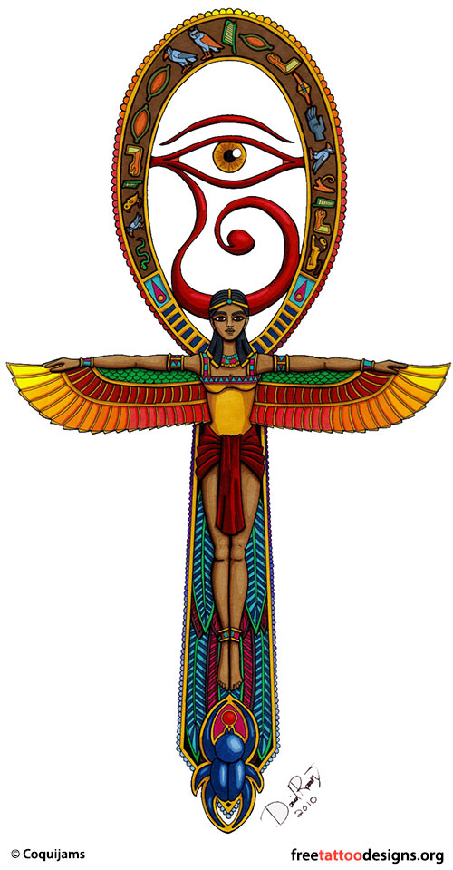 free tattoo designs to print on Egyptian Art Tattoos | Ankh, Phoenix, Eye of Horus Tattoo Designs