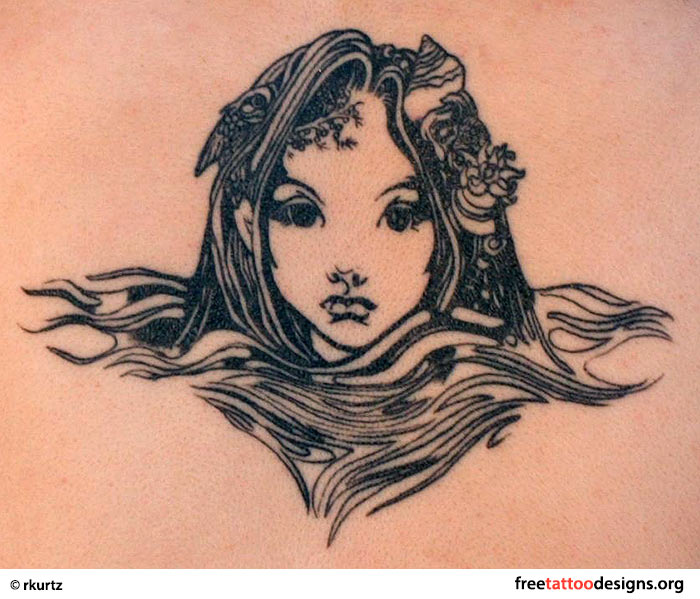 Fairy face tattoo