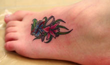 Feminine foot tattoo