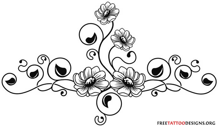 Flower tattoo designs are also popular amongst men , but then they are ...