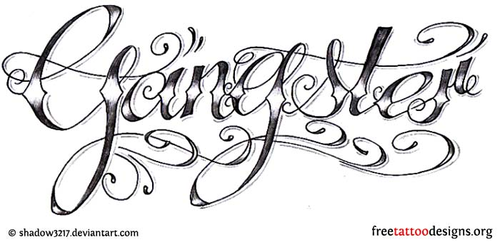 Gangster tattoo design