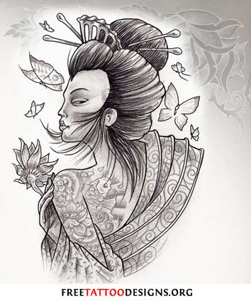 Geisha Tattoo Design Art Tattoo Designs Free Online Sample Tattoos