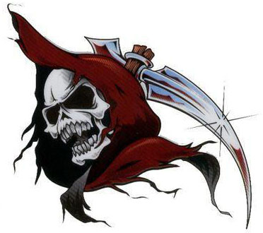 grim reaper tattoos. Grim Reaper Tattoo