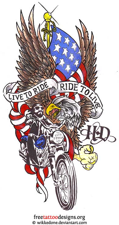 Harley davidson tattoos free tattoo ideas tattoo design bild for Free harley davidson tattoo designs