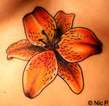 Flower Tattoo Designs  Girls on Hawaiian Tattoos   Flower  Tribal  Band Tattoo Designs