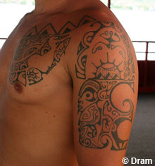 Hawaiian Tribal Tattoos on Hawaiian Tattoos   Flower  Tribal  Band Tattoo Designs