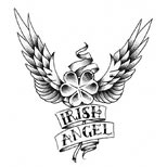 Irish shamrock tattoo design