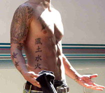 Justin Timberlake fake tattoos (Alpha Dog)