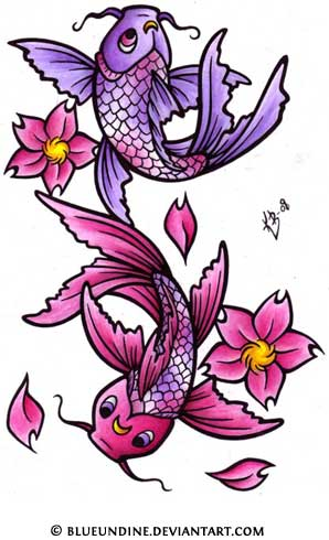 Cute koi tattoo