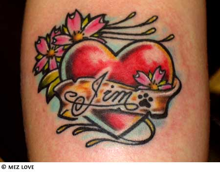 heart and love tattoos. Love Heart Tattoos