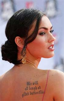 Cool celebrity tattoos