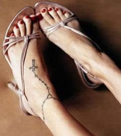 Nicole Richie's Ankle Band Tattoo