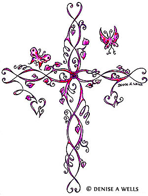 Thorn Cross Tattoo