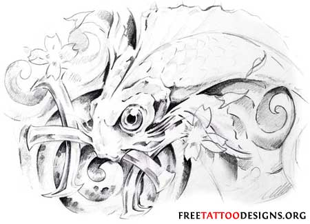 Pisces tattoo drawing