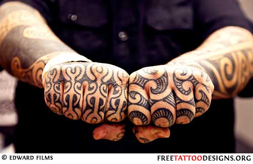 8e98aa7275c28 Polynesian hand tattoo