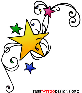 Moon  Star Tattoos on Free Tattoo Designs   Tribal  Zodiac  Cross  Star Tattoos   Ideas