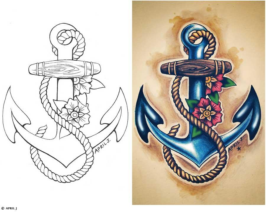 Sailor Sparrow Tattoo Designs