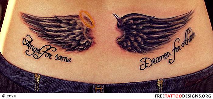 Devil Tattoos Size10001402 569k Angel Fighting