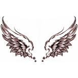 Angel wings tattoo flash