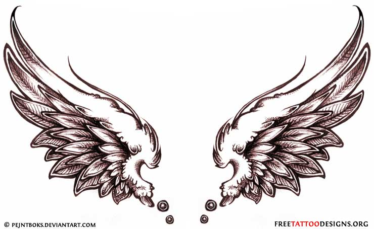 Angel tattoos angel wings guardian angel and st michael designs angel wings tattoo flash urmus Gallery