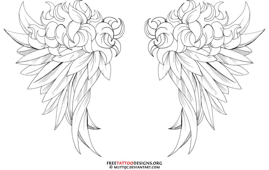 Praying Hands With Wings Tattoo Designs Angel Wings Tattoo Design