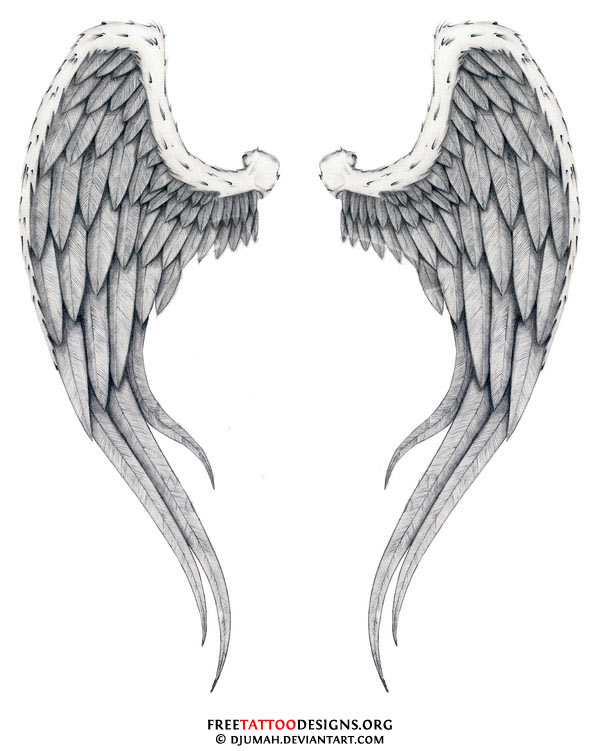Broken Angel Wings Tattoo Designs http://www.freetattoodesigns.org/angel-tattoos.html