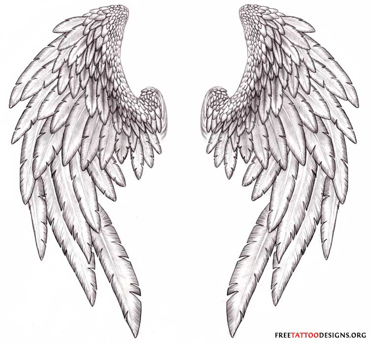 Straight from the heart for incredible owl coloring pictures - Realistic Angel Wings Drawingdenenasvalencia