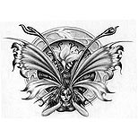 Angry fairy tattoo design
