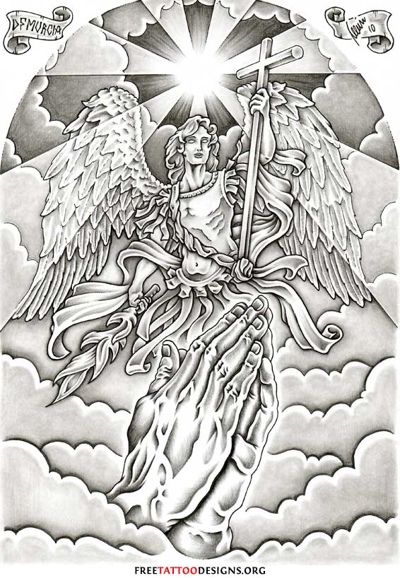 Angel Tattoos | Angel Wings, Guardian Angel and St Michael ...