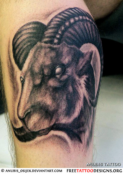 Evil goat tattoo - photo#23