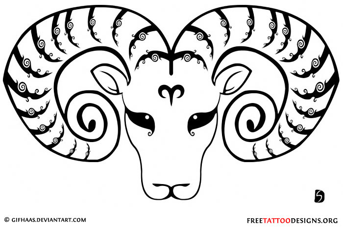 Aries Horoscope Tattoos