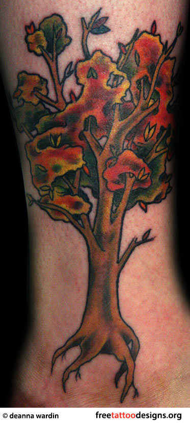 Forest Pine Tree Tattoo