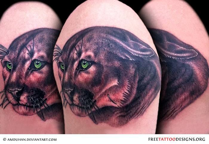 Panther Eyes Tattoo