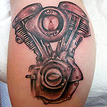 Bike engine tattoo design