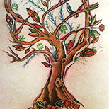 Bird tree tattoo