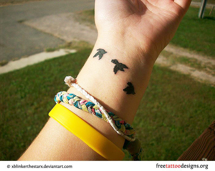 Free Bird Tattoo On Wrist Birds tattoo