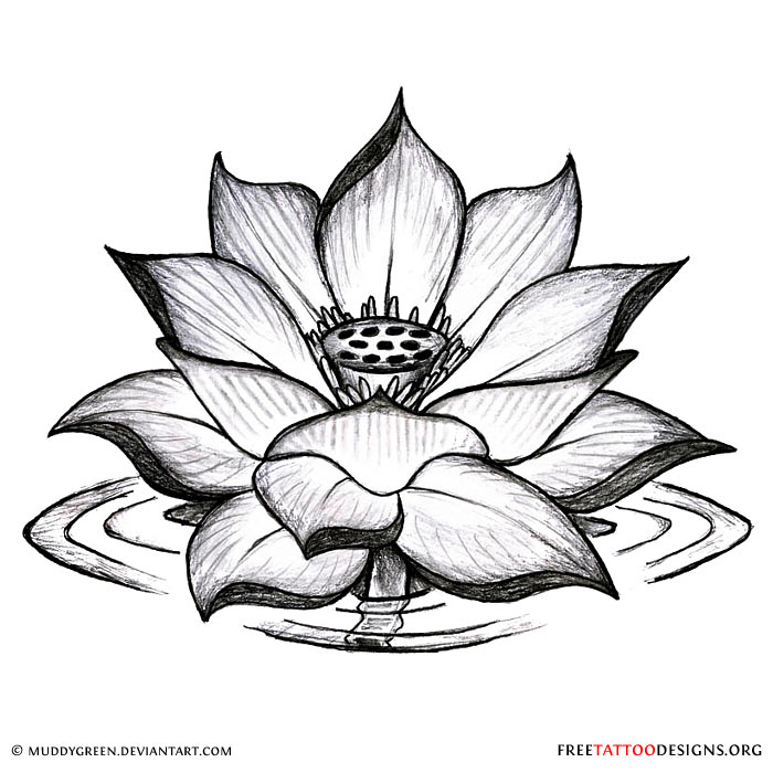 90 lotus flower tattoos. Black Bedroom Furniture Sets. Home Design Ideas