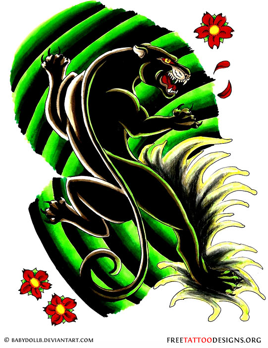 http://www.freetattoodesigns.org/images/tattoo-gallery/black-panther-flowers.jpg