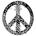 Black peace tattoo design
